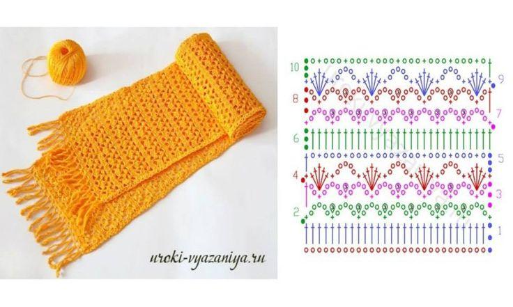 49 best crochet bufandas images on Pinterest | Cowl, Crocheted scarf ...