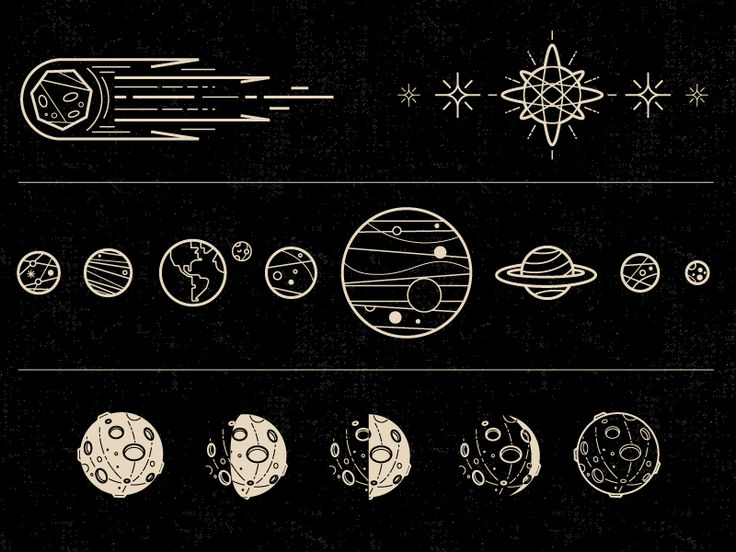 Some icons I did for this month's issue of Galileu magazine for a moon calendar poster.