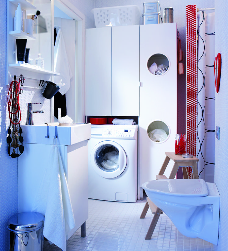 50 best images about sdb on pinterest machine a design - Meuble lave linge ikea ...