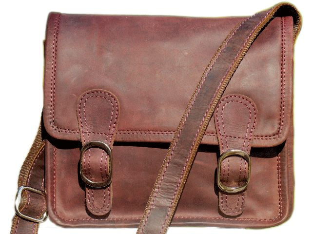 "Large Micro Leather Satchel 15"" for laptop netbooks ipad - An Old School Satchel. See more @ www.realleather.com.au"