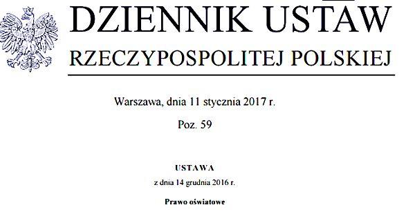Wychowanie przedszkolne, obowiązek szkolny i obowiązek nauki  od 1 września 2017 r.