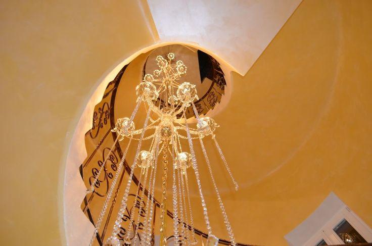 Wranovsky chandelier in a newly opened hotel in Prague, Czech Republic.