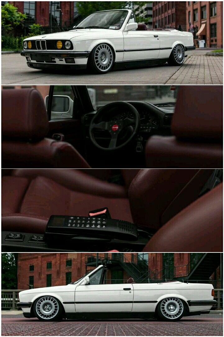BMW E30 Cabrio with custom leather interior