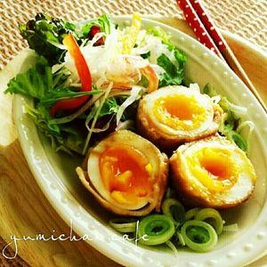 ♡豚バラdeゆで卵くんクルクル♪巻き巻き♪の作り方♡【おかずに!お弁当に】 by yumi♪さん | レシピブログ - 料理ブログのレシピ満載!    こんにちは♪  今日は  ゆで卵があまるとよく作る巻き巻きくんを アップさせて頂きます  ☆材料☆  ゆで卵・・・・4個  豚バラ・・・・4枚  お醤油・・・・大さじ1  焼肉のたれ・・適量  ...