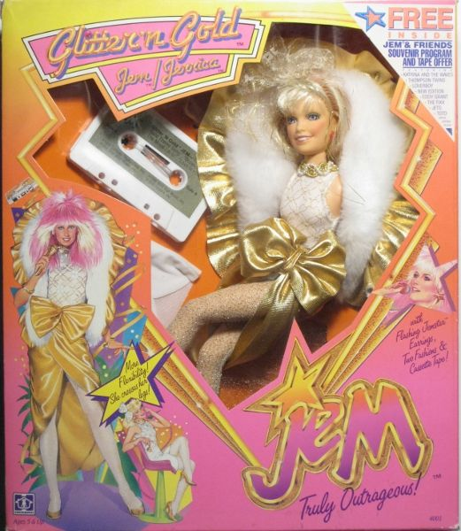 JEM Glitter 'n Gold doll- I have to get mine out and see if her earrings still work; they did last time I checked, a few years ago
