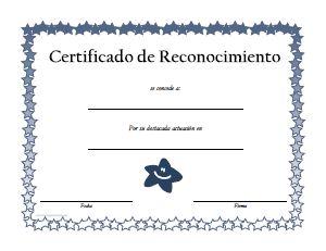 diplomas de reconocimiento para imprimir