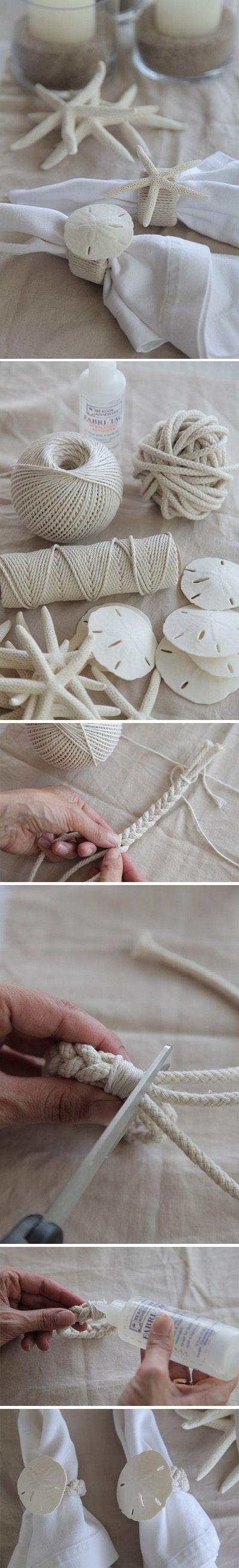 braided beach theme napkin ring.