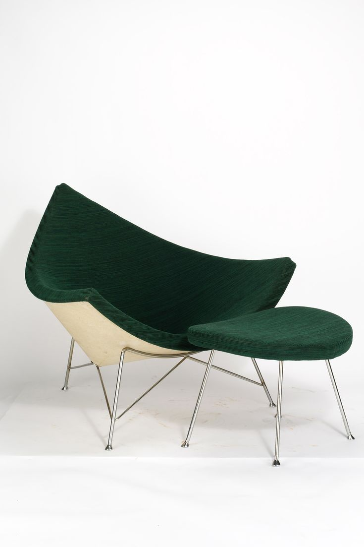 Georg Nelson . coconut chair + ottoman, 1955