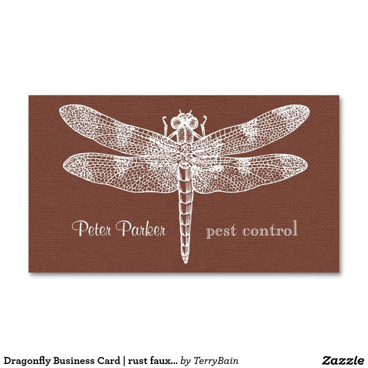 Dragonfly Business Card | midnight faux flannel | Stuff SOLD on ...