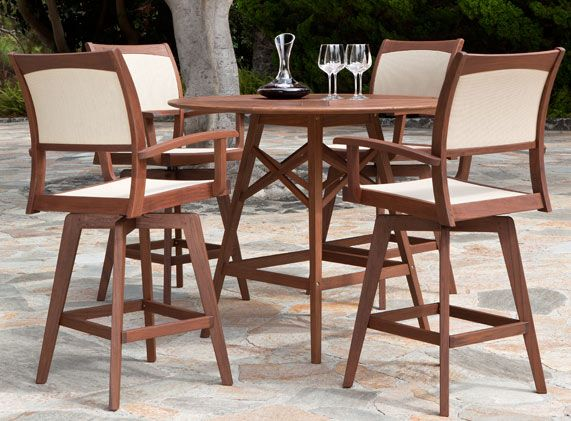 Topaz Opal Hi Dining Group By Jensen Leisure. Table Height: 38.5u201d, Table