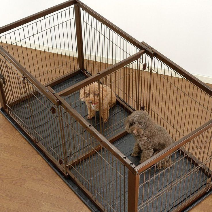 Richell Divider for Expandable Pet Crate Dark Brown