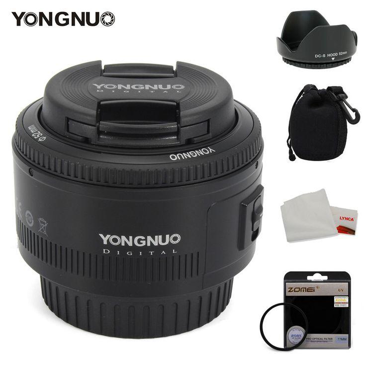 <b>YONGNUO</b> 50mm <b>Lens</b> fixed focus <b>lens</b> EF 50mm F/<b>1.8</b> AF/MF ...