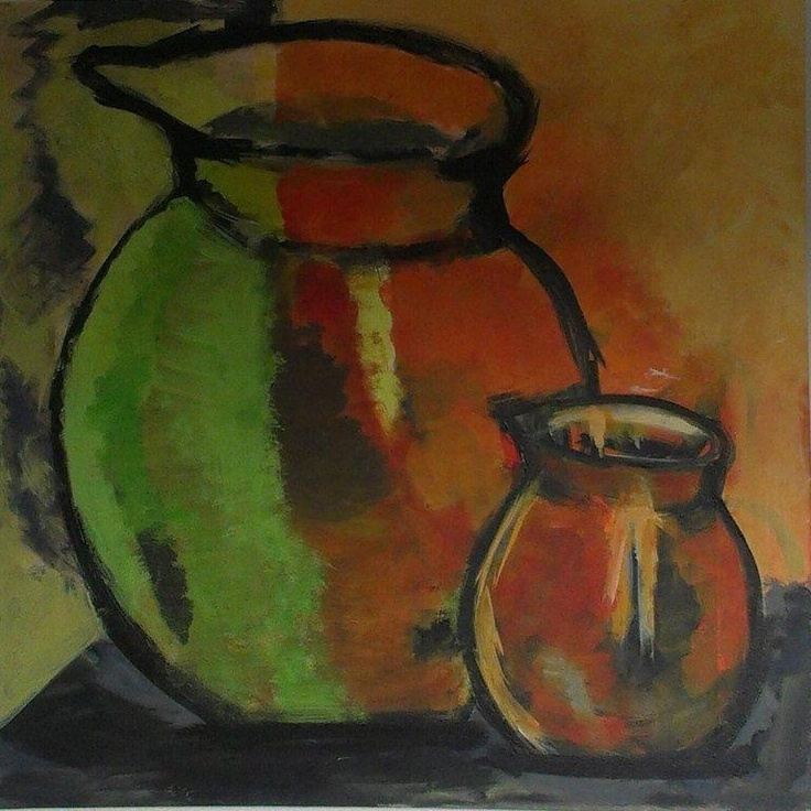 Jugs. July, 2012. 70x70. Acrylics on canvas.