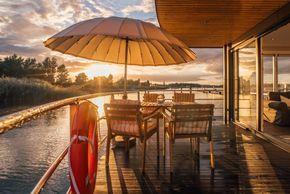 Urlaub auf dem Wasser-Das Hausboot- stilvoll & hochwertig Hausboot Seeblick in Bitterfeld-Wolfen