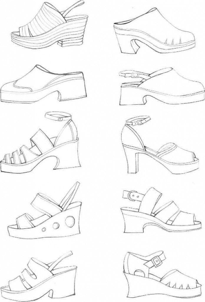 Учимся рисовать fashion-эскиз. Урок 28. Заключительный урок. Обувь