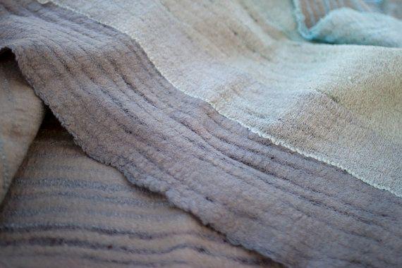 Mint zachte sjaal Grijs teal cowl sjaal kap vrouwen sjaal groen merino wol oneindigheid sjaal cirkel sjaal unisex cowl nek warmer gift van de verjaardag - handgemaakt op bestelling Handgemaakte vilten sjaal voor hem of voor haar. Ik gebruikte alleen zachtste superfijne Australische merino wol en katoen stof te maken. Merino is zeer zacht, het niet irriteert uw huid. Kleuren - licht groen wol en grijs, groen en teal katoen. Sjaal van dubbele lus meet ongeveer 80 cm (31 1/2 inch) lange en...