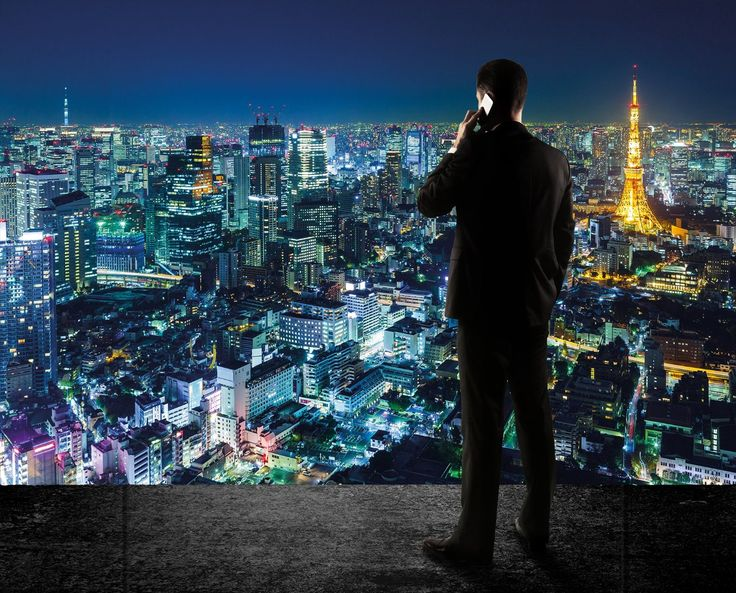 Skyline By Night Photo Wallpaper - Tokyo By Night Mural - Xxl Skyline Wall Decoration - - Amazon.com