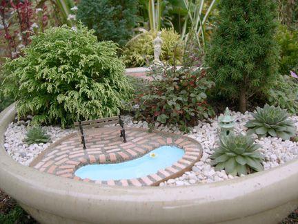 Living Miniature Garden in Planter, Side View | Cotton Ridge Create!