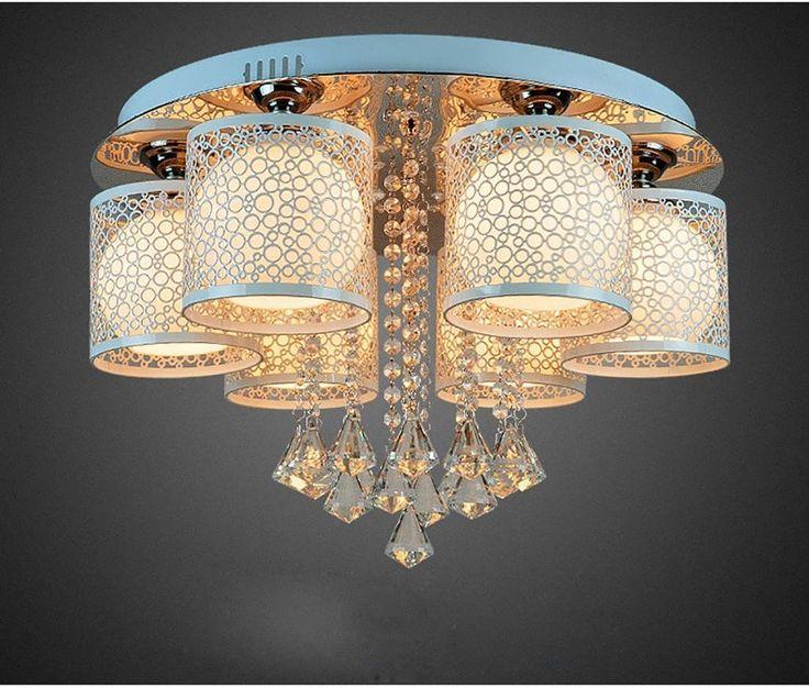 Awesome HT Runde Kristall Licht f r Wohnzimmer Indoor Deckenleuchte mit Remote Controlled Luminaria Heimtextilien head