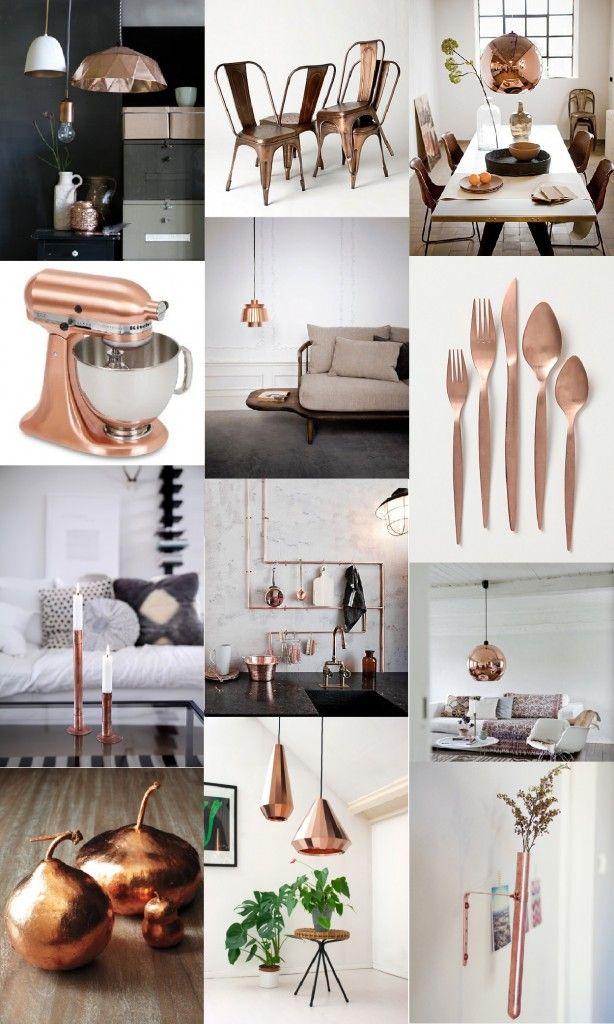 Tendance déco 2013 : Une déco cuivrée ! | www.decocrush.fr ck copper kitchen accessories, pipe pot and utensil rack