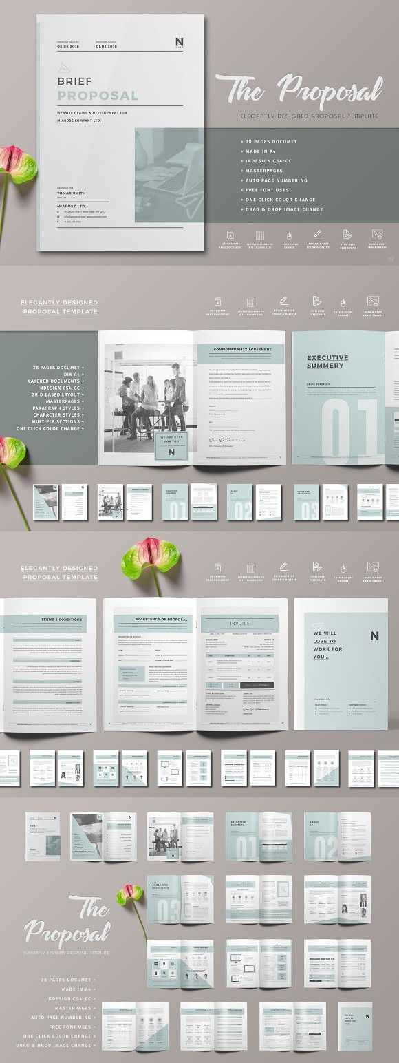 construction proposal templates%0A Proposal  Brochure Templates