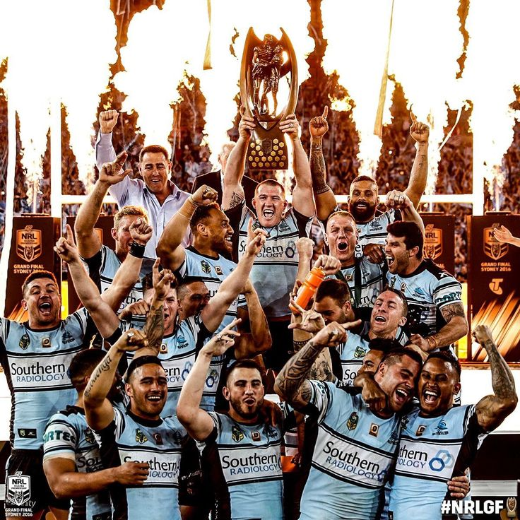 PREMIERS... FINALLY! The Cronulla Sharks win their first ever #NRL Premiership. #NRLGF #HistoryHappens