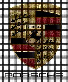 Porsche Emblem Crochet Pattern