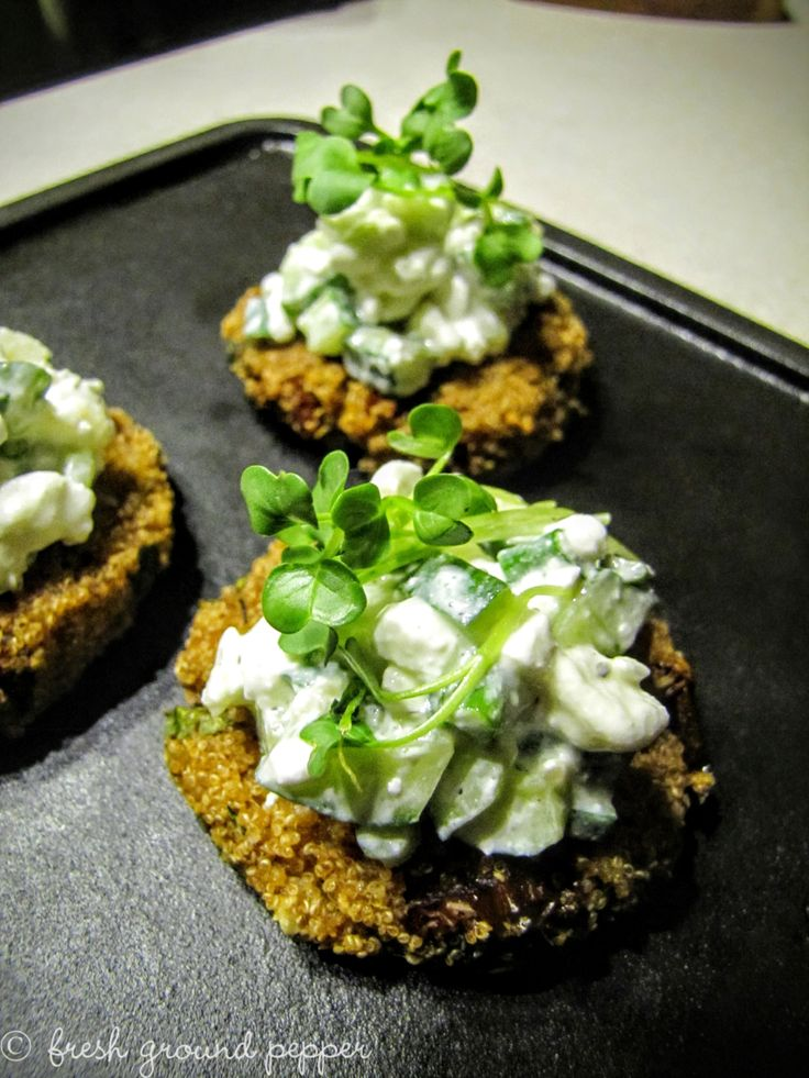 amaranthus & pearl barley fritters with white salad and herbs from freshgroundpepperblog.wordpress.com