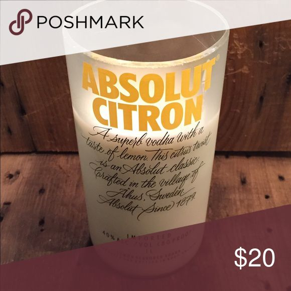 Upcycled Candle 100% Soy wax Absolut Citron Candle with citrus scent Other