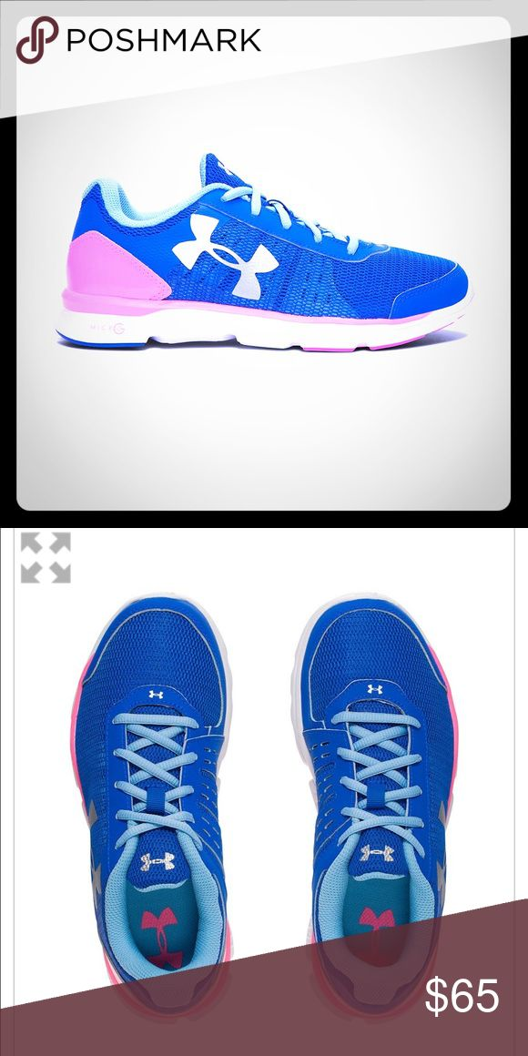 Under armour running shoes Brand new with box ... yourh size 5 which is a womens size 7 Under Armour Shoes Athletic Shoes