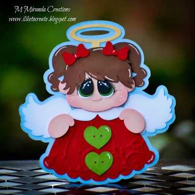 M. Miranda Creations: Angel Tag - Day 1 of 12 Days of Christmas Tags with Treasure Box Designs!