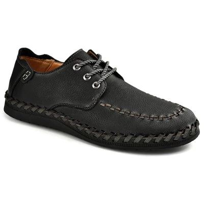 Men Shoes  - $32.99 (coupon: GBSHOE2554)  Men Retro Soft Stitching Driving Casual Oxford Shoes - 44 BLACK  #Casual, #Men, #Shoes, #Leather, #туфли, #gearbest   0986