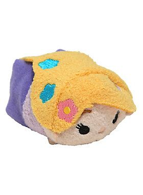 "<p>Originally from Japan, Tsum Tsum stackable plush feature your favorite Disney characters. Collect them all to build a tower of cute and cuddly friends.</p>  <p>This mini Tsum Tsum is in the super cute, super soft shape of Rapunzel!</p>  <ul> 	<li>3 1/2"" long</li> 	<li>Polyester fiber; plastic pellets</li> 	<li>Imported</li> </ul>"