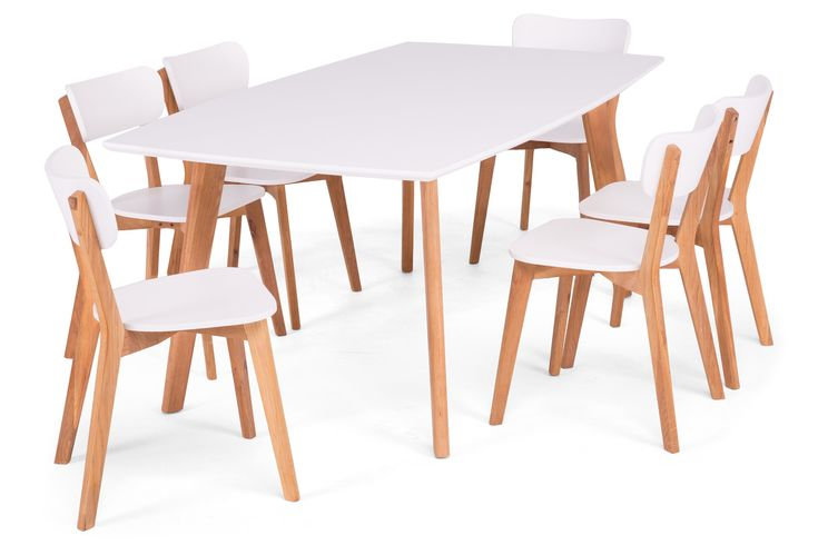 Köp Matgrupp Ärendal Vit med 6 stolar Vit/Ek hos Chilli. Hos oss får du hög kvalitet till bra pris. Handla fraktfritt med snabb leverans direkt till dörren - Välkommen!