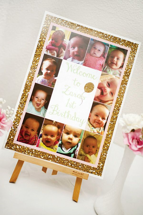 Gorgeous All That Glitters is Gold First Birthday Party