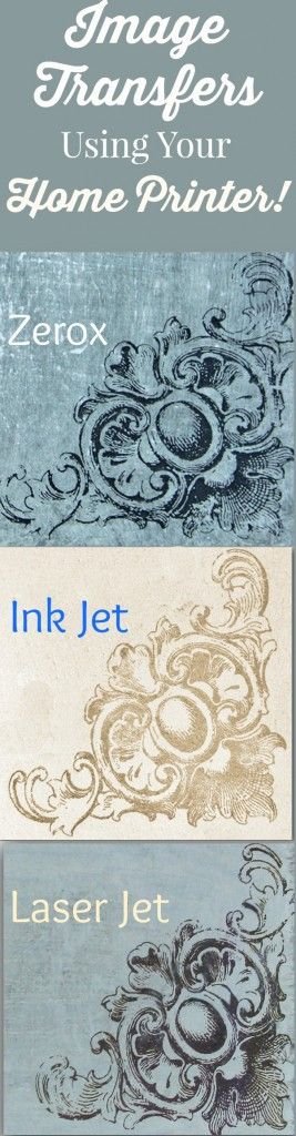 How to Transfer Images with Inkjet or Laser Prints!