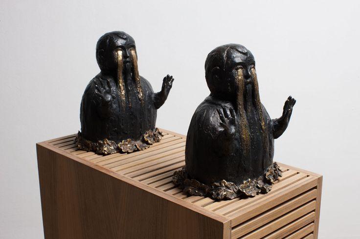 Enzo Cucchi, Appollaiatollà, 1987‐2013, bronzo, 21 x 21 x 15 cm. Edizione di 2. Courtesy FL Gallery, Milano. Photo Antonio Maniscalco