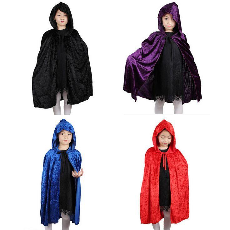 安い女の子の男の子フード付きハロウィーン衣装のマントマントマント死マジシャン魔女仮装パーティ子供の子供のためのパフォーマンスの服、購入品質服、直接中国のサプライヤーから: Halloween Costume Cloak Women Men Collar Death Vampire Cloak Gown Red Black 2 Side Wear Party Cosplay Robe for Ad