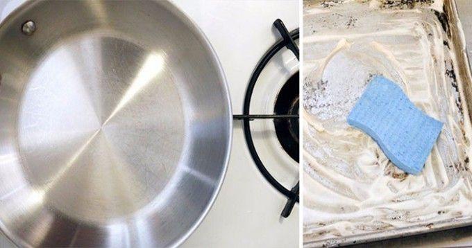Jak vyčistit staré, zanesené kovové hrnce, pánve nebo plechy za pár kaček | NejRecept.cz
