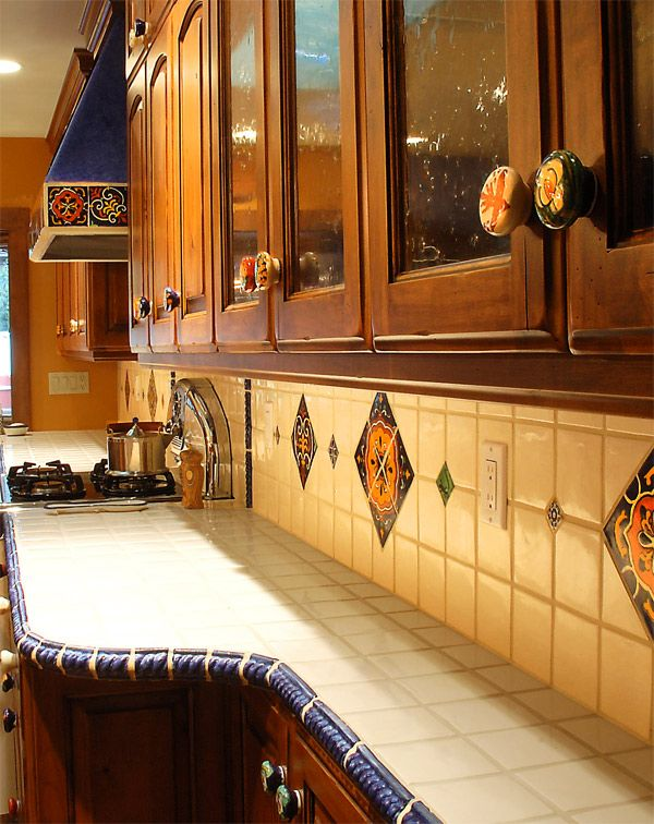 Southwest Kitchen Talavera Accent Tiles And Knobs
