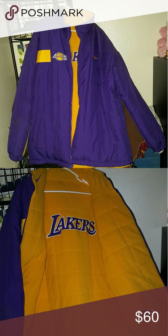 Lakers jacket Never worn, reversible Nike Jackets & Coats Bomber & Varsity