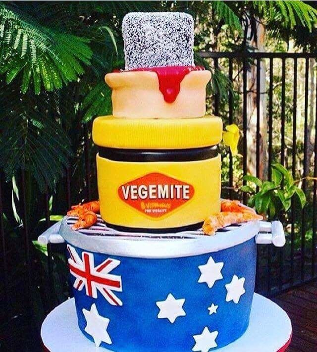 Even tho I hate Vegemite(*gasp*, an Australian who hates Vegemite, yeh people, we don't all like it) this cake is super cool