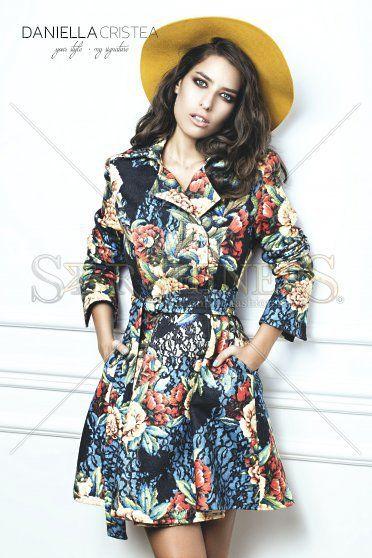 Palton Daniella Cristea Blossomed Black (Daniella Cristea)