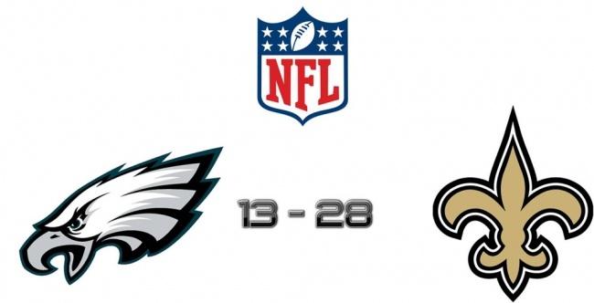 NEW ORLEANS, Louisiana – Los New Orleans Saints aprovecharon la crisis de los Philadelphia Eagles para volver a la senda del triunfo e intentar volver a la contienda por los playoffs al imponerse claramente 28-13 en el partido de lunes por la noche de la semana 9.