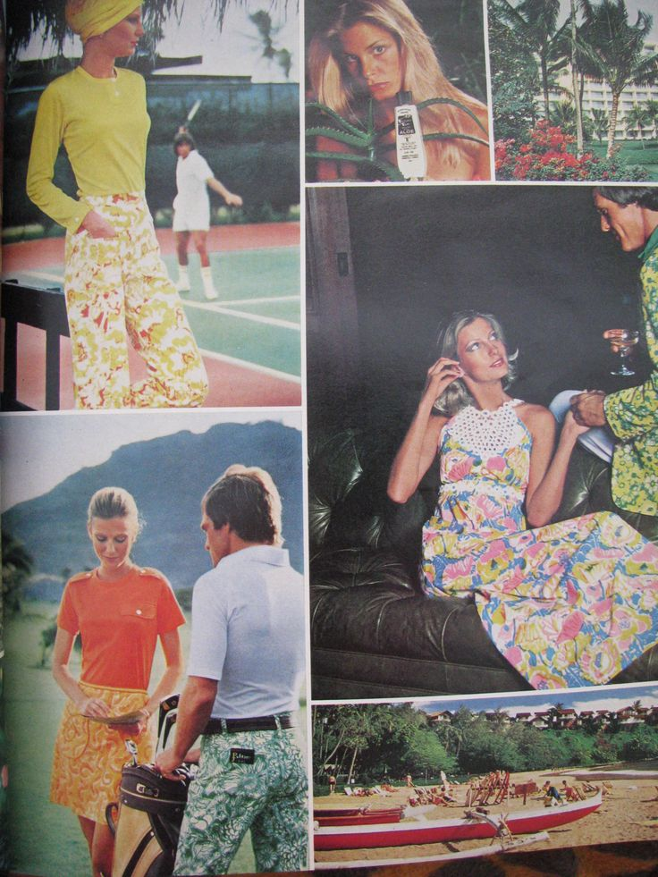 More of the Lilly Follows the Sun with Hawaiian Tropic campaign, Vogue, May 1976.