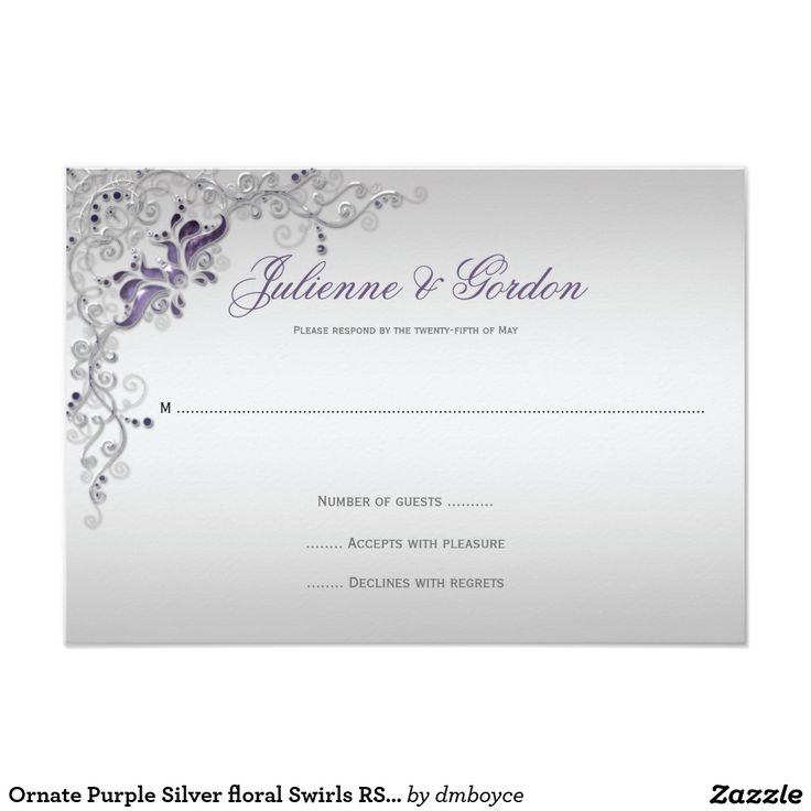 256 best Silver Wedding Invitations images on Pinterest | Silver ...