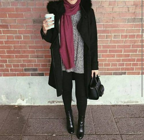 New Winter Hijab Fashion Looks Just Trendy Girls Hijab