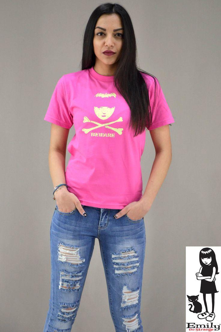 Γυναικείο t-shirt Emily Strange Beware | T-shirts - Γυναίκα |