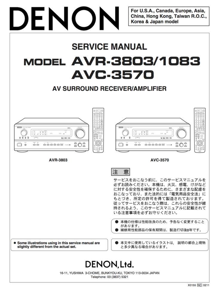 10 best denon service manuals images on pinterest manual textbook denon avr 3803 service manual coplete fandeluxe Images