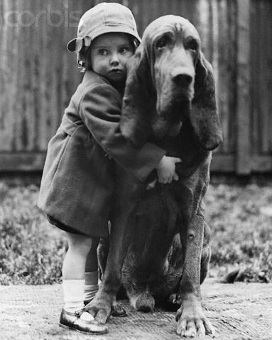 huggle: Hound Dog, Little Girls, Best Friends, Art Prints, Children, Vintage Photo, Photography, Big Dogs, Animal